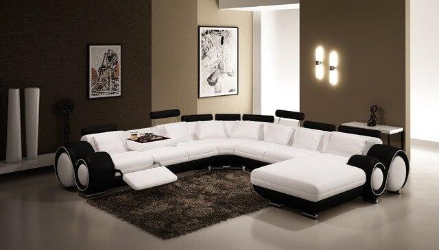 Moderno angolo divani e divani angolari in pelle per mobili Divano ...