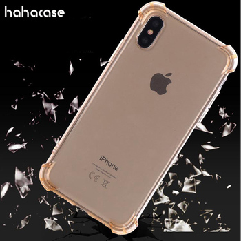 500pcs Air Cushion Corners Shockproof Cover For iPhone XS Max XR X 8 7 6 6S Plus SE 5 5S Soft TPU Clear Drop Protection Cases