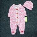 Bebé ropa de algodón bebé monos mamelucos del bebé con tapas bebes niñas traje recem nascido