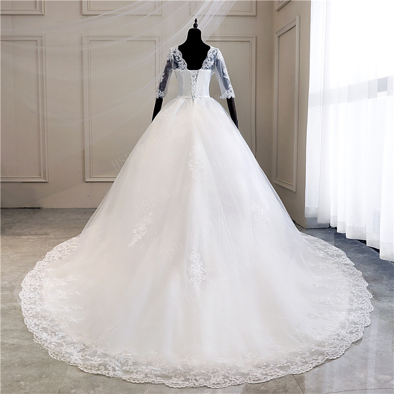 Image 3 - Real Photo Lace Embroidered Organza Tulle Sweetheart Off White 