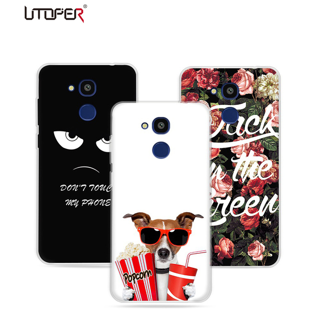 UTOPER Case For Vernee M5 Case Silisone Hard TPU Cute Dog Phone Cover For Vernee M 5 Case Cover For M5 Vernee Case Coque Fundas