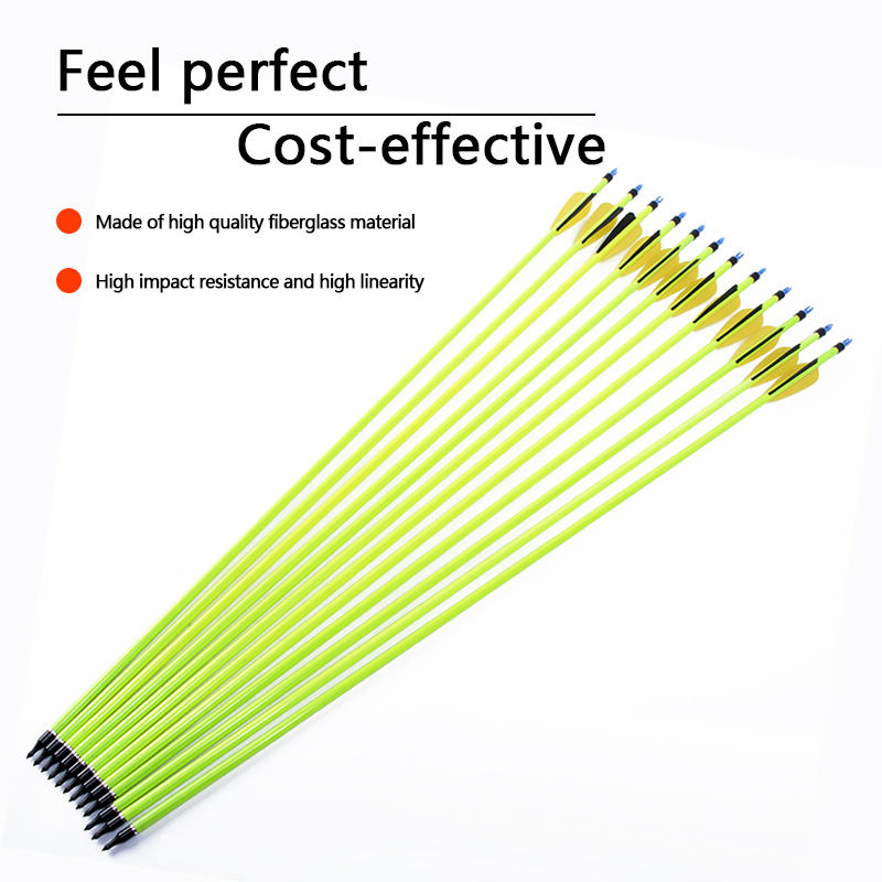 30-Inch-12-Pcs-Yellow-Carbon-Arrow-Black-Yellow-Feather-Replaceable-Arrow-For-Composite-Bow-Hunting(5)