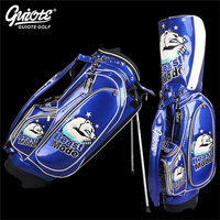 GUIOTE Beast Mode Golf Stand Bag PU Leather Golf Carry Bag With Rainhood Embroidery Design 8 way 9 Size For Men Women