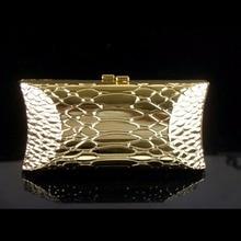 1469 goldene Schlange muster metall fall Dame Mode Braut Party Night clutch abendtasche handtasche box IN FREIER VERSAND
