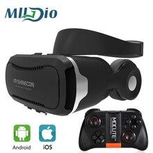 Mlldio Виртуальная реальность Google картона VR гарнитуры поле 3d очки shinecon VR 4.0 с наушники для смартфонов XIAOMI/Iphone