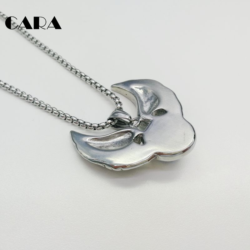 Cara new 316l stainless steel vintage silver wings devil eyeball cara new 316l stainless steel vintage silver wings devil eyeball pendant necklace mens hip hop punk necklace jewelry cara0321 in pendant necklaces from aloadofball Choice Image