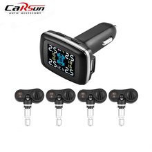 цена на Car TPMS Tyre Pressure Monitoring System 4 Internal Sensors Smarter Lighter USB Charging Diagnostic-tool Bar PSI Detector