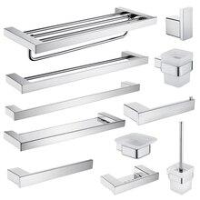 Bathroom Accessories Tissue Paper Holder Wall Hook Soap Dish Holder Towel Rack SUS304 Stainless Steel Toilet Brush Holder