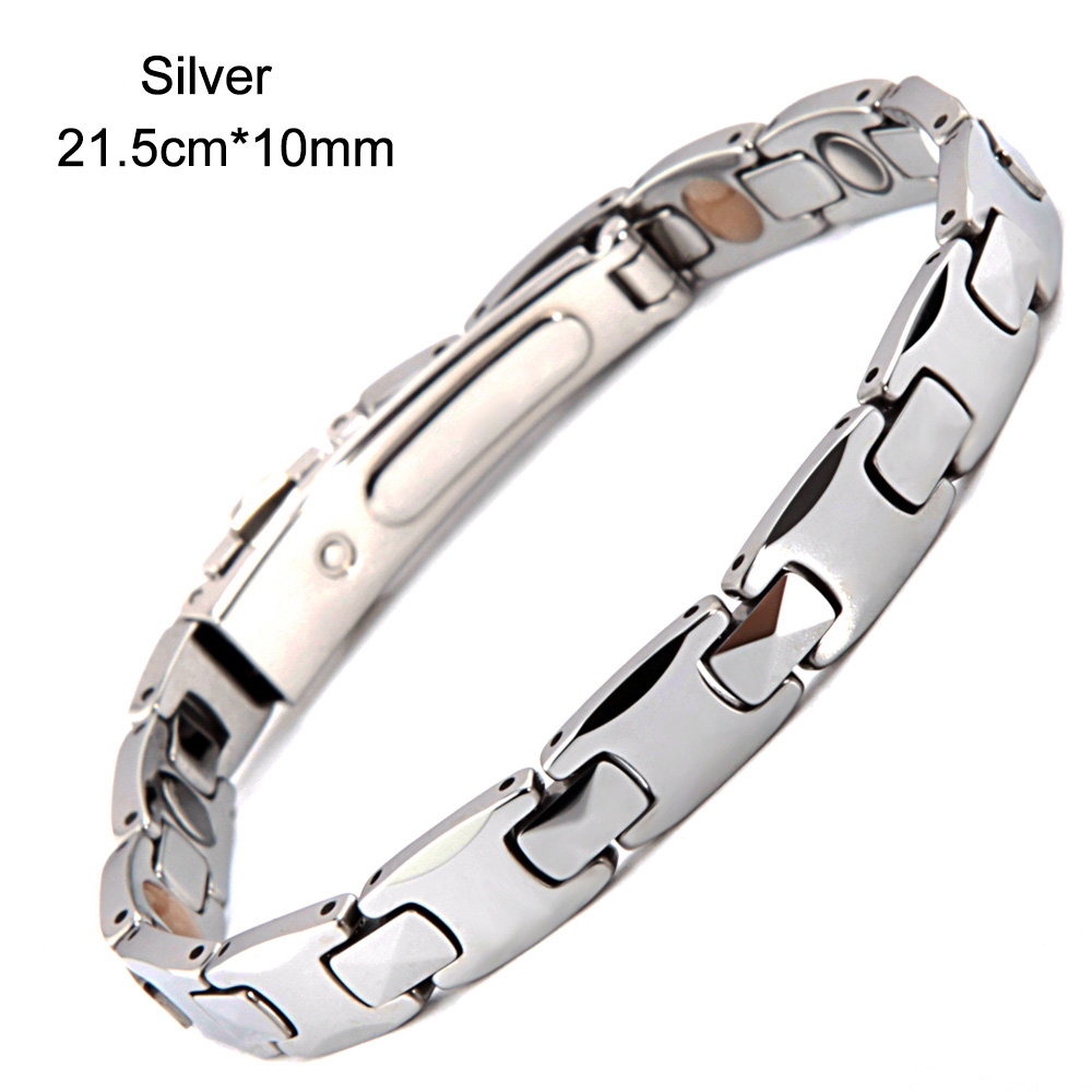 Elegant 38 Tungsten Steel Men Germanium Bracelet Bio Power Magnetic Therapy Bracelet Charm Magnetic Bracelets Elegant 38 Tungsten Steel Men Germanium Bracelet Bio Power Magnetic Therapy Bracelet Charm Magnetic Bracelets