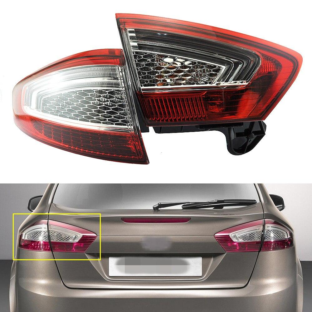 1установите/2шт левой стороны хвост лампы задние фары Внутренний+Наружный для Форд Мондео Фьюжн 2011-2012
