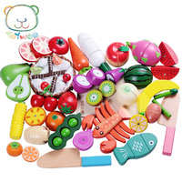 [Toy Woo] Toys for Educational Toys Kids Kitchen for Girls Wooden Cutting Children Cooking Kitchen Gas Stove Toys Pretend Play