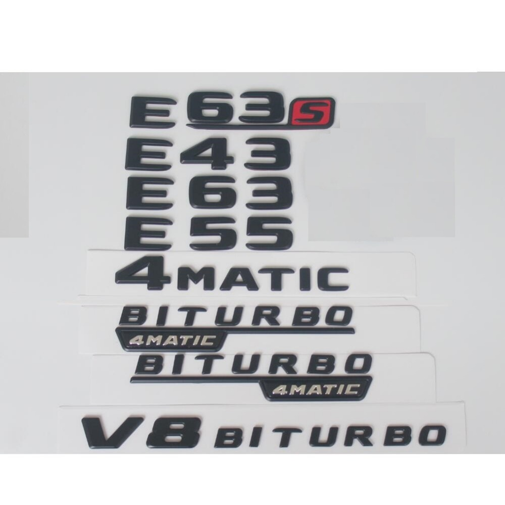 "AMG BITURBO/"" Letters Trunk Embl Badge Sticker for Mercedes Benz AMG 2018/""C43"