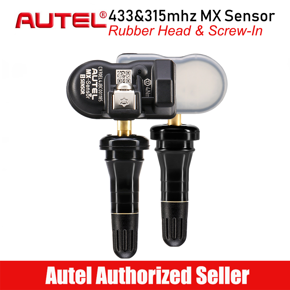 Autel MX 1 Sensor 433mhz 315mhz Rubber Tyre Pressure Sensor Programmable Relearn Tire TPMS Cloneable Universal