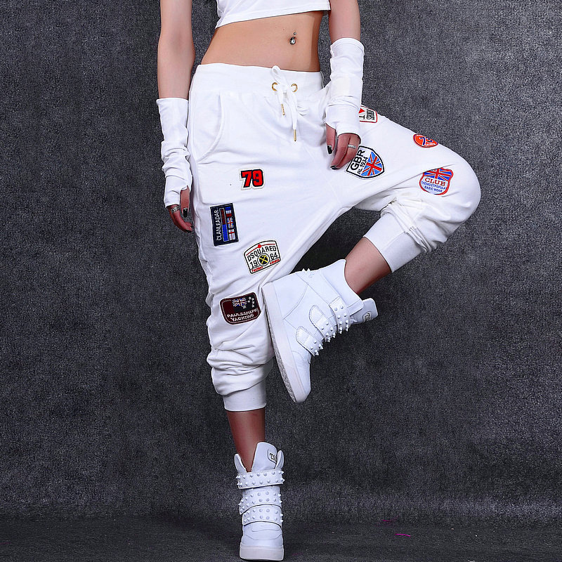 Unique Design Femmes Lâche Harem Pantalon De Mode Hiphop Danseur Pantalon Mode DJ Costumes