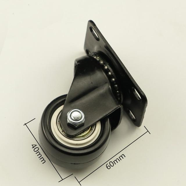 4PCS Black Office Chair Swivel Rubber Casters Industrial Universal Brake Wheels