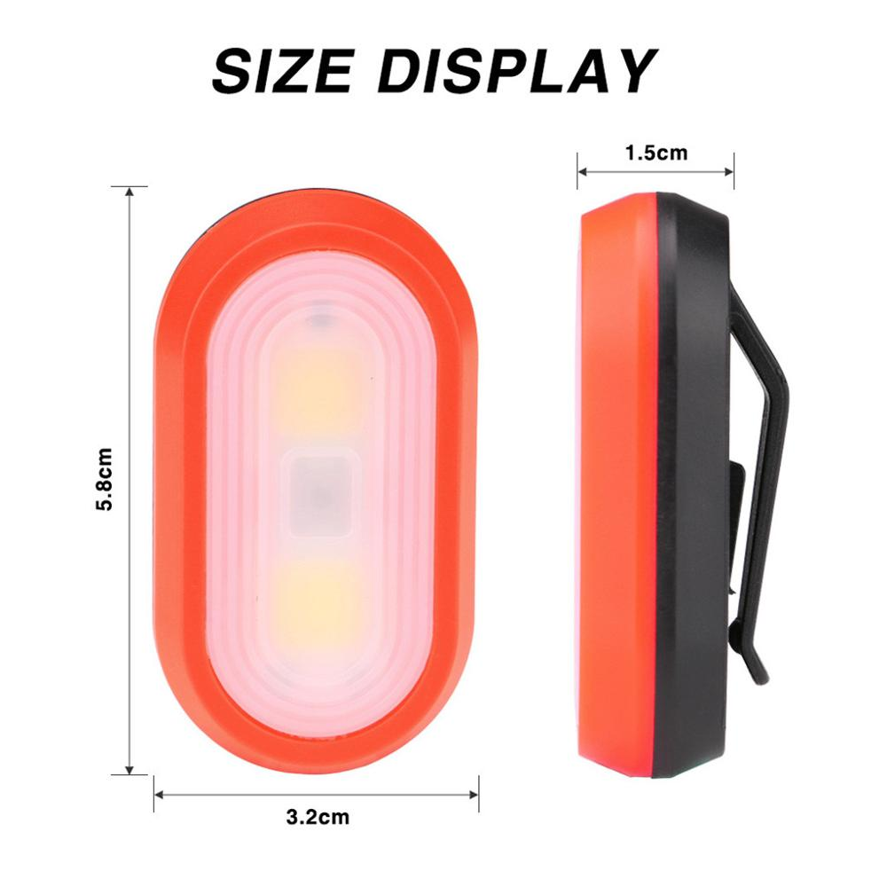 Portable Mini Clip-on Clothes Bright LED Lamp Running Walking Jogging Cycling Night Light Safe Warning 3 modes Flashing Light#08