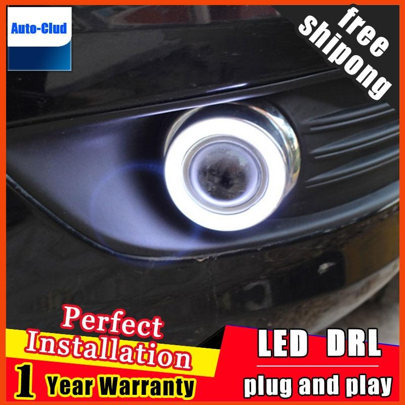 стайлинга автомобилей ангел глаз противотуманные фары для Форд Фокус седан 2009-2013 светодиодные противотуманные фары светодиодные ангельские глазки светодиодные противотуманные фары 2