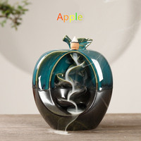 Green creative backflow censer fruit ornamental reflux aroma stove household handicraft furnishing articles