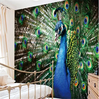 Magnet 3D Large Mural Custom Mural Wallpaper Photo Wallpaper TV Backdrop Peacock Papel De Parede Wallpaper