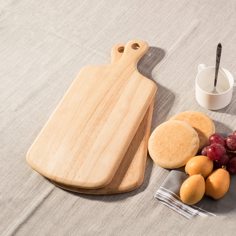 Solid Wood Eco-Friendly Cutting Board/Chopping Block Natural Color Multiple-Use Wooden Fruits/Cake/Desserts Plates Pizza Boards