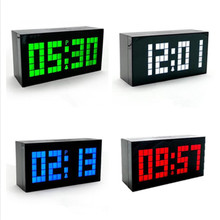 Cheap price New Digital Clock Large Big Jumbo LED Snooze Wall Desktop Alarm Clock LED Clock Digital Thermometer Date Indoor Clock Calendar