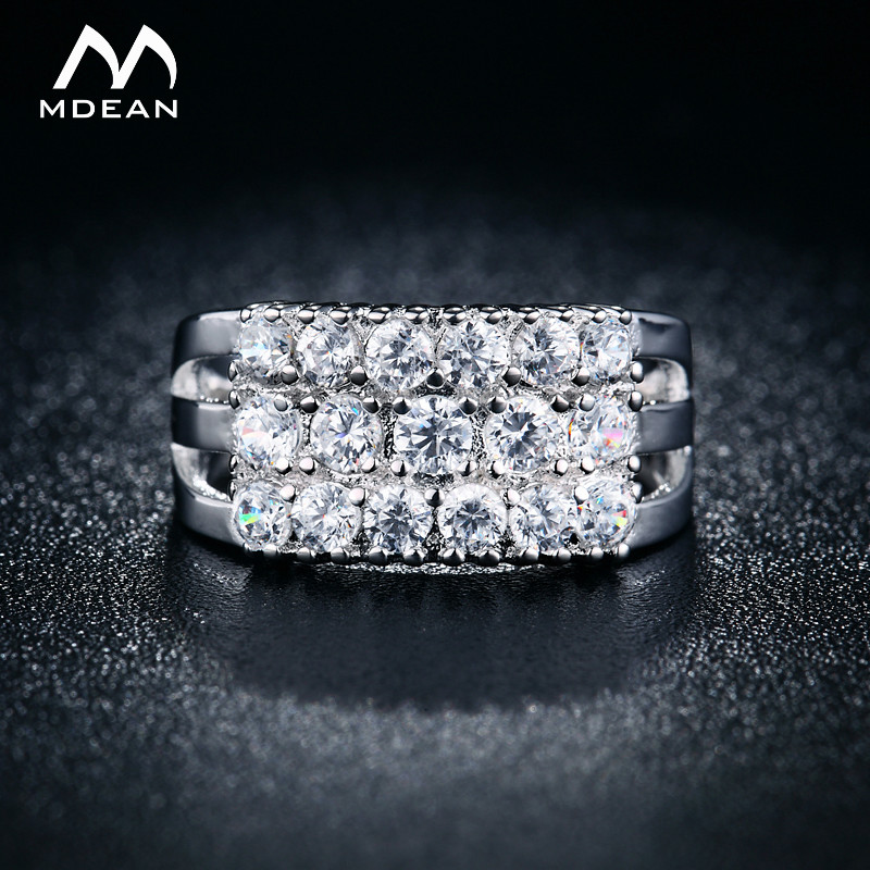 MDEAN White Gold Color Rings...