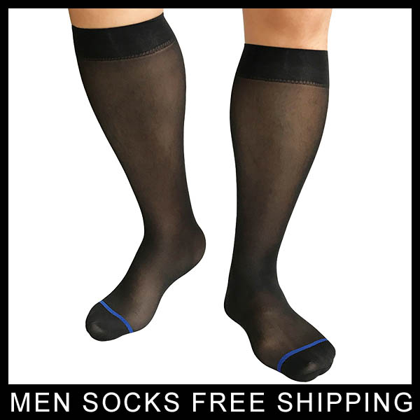 Sheer Softy Nylon silk socks for Mens