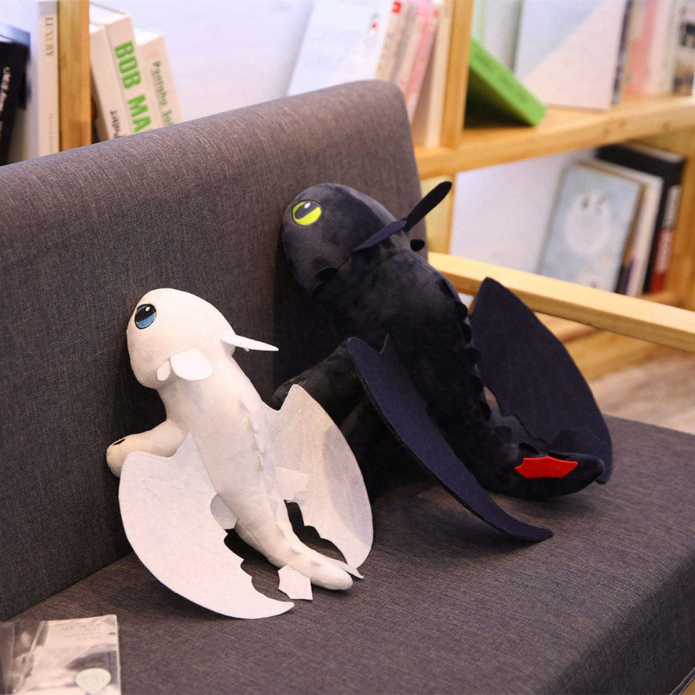 35cm Anime Doll For Kids How To Train Your Dragon Toothless Dragon Simulation Toy Night Fury Light Fury Plush Toy Stuffed