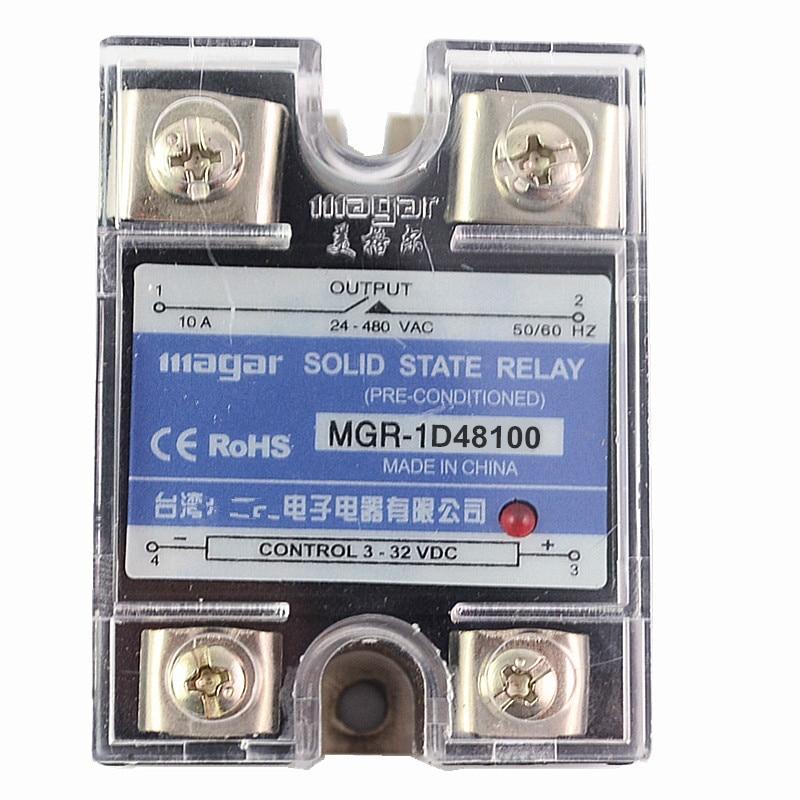 1Pcs Solid State Relay MGR-100A DA DC-AC input 3-32VDC output 24-480VAC Control solid state relay g3nb 240 5 b 1 24 vdc