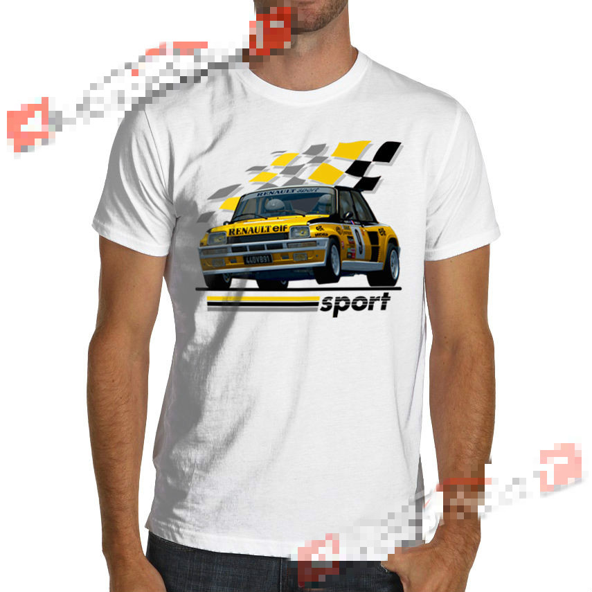 1983 R5 Renault 5 Turbo Rally WRC Racing T-Shirt Maxi Gt Alpine Jean Ragnotti Summer Short Sleeves Cotton Fashion