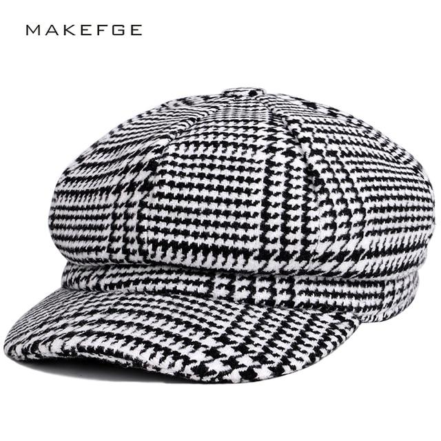 2018 New Fashion Striped Beret High Quality Octagonal Cap Man Woman Vintage Newsboy  Hat Autumn Winter Bone Artist Cotton Unisex a42fa62b385e