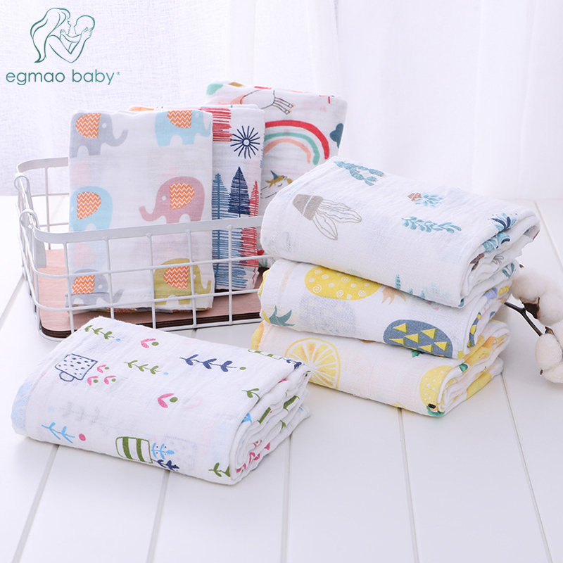 Muslin 100% Cotton Baby Swaddles Soft Newborn Blankets Bath Gauze Infant Wrap Sleepsack Stroller Cover Play Mat Baby Bed Sheet
