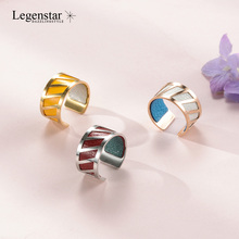 Legenstar Creative Gold Rings For Women Fashion Men DIY Stainless Steel Bijoux Reversible Leather Lover Ring Bague Femme Anillos
