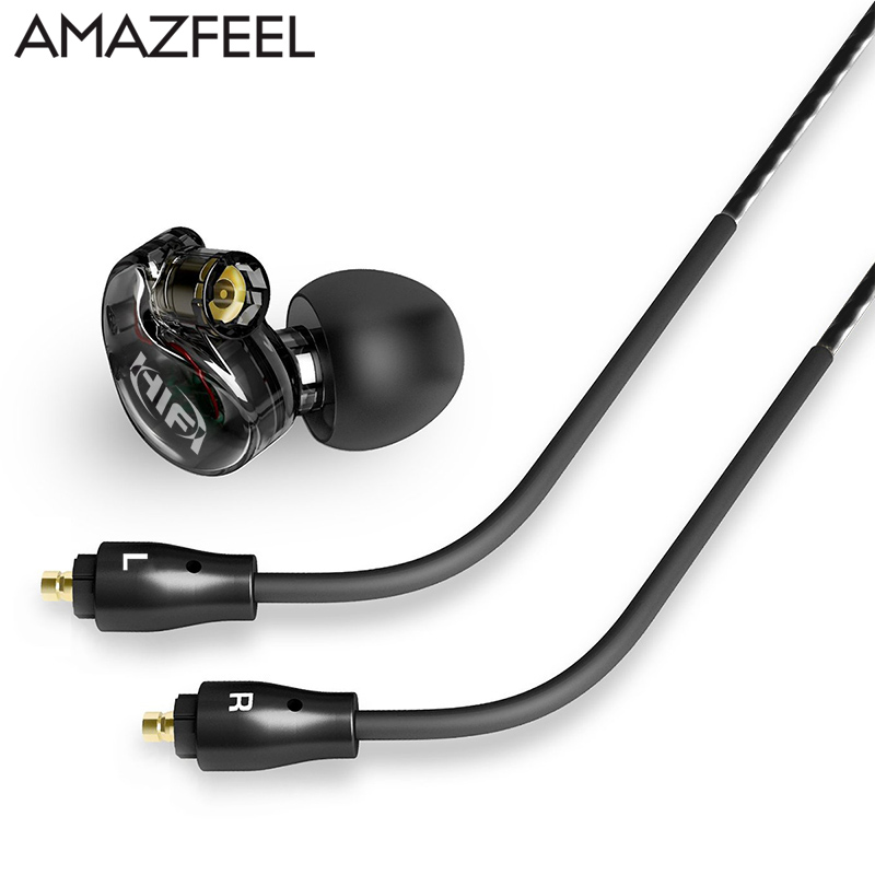 AMAZFEEL New Hybrid In Ear wireless Earphone HIFI DJ Monito Running Sport Earphones bluetooth headphone Earplug Headset Earbud new hybrid in ear wireless earphone hifi dj monito running sport earphones bluetooth headphone earplug headset earbud