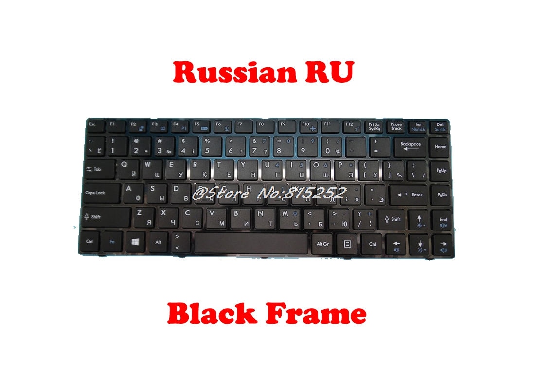 US UK RU Keyboard For <font><b>MSI</b></font> CR42 2M CR420MX R420X CR43 6M CR480 CX420MX CX420X FR400 FR420 FX400-075XAR GE40-i760M2811 X370 X420 image