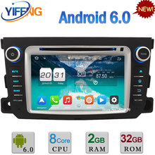 7″ 2GB RAM 32GB ROM Android 6.0 Octa Core 3G/4G WIFI Car DVD Radio Stereo GPS Player For Benz Smart Fortwo 2011 2012 2013 2014