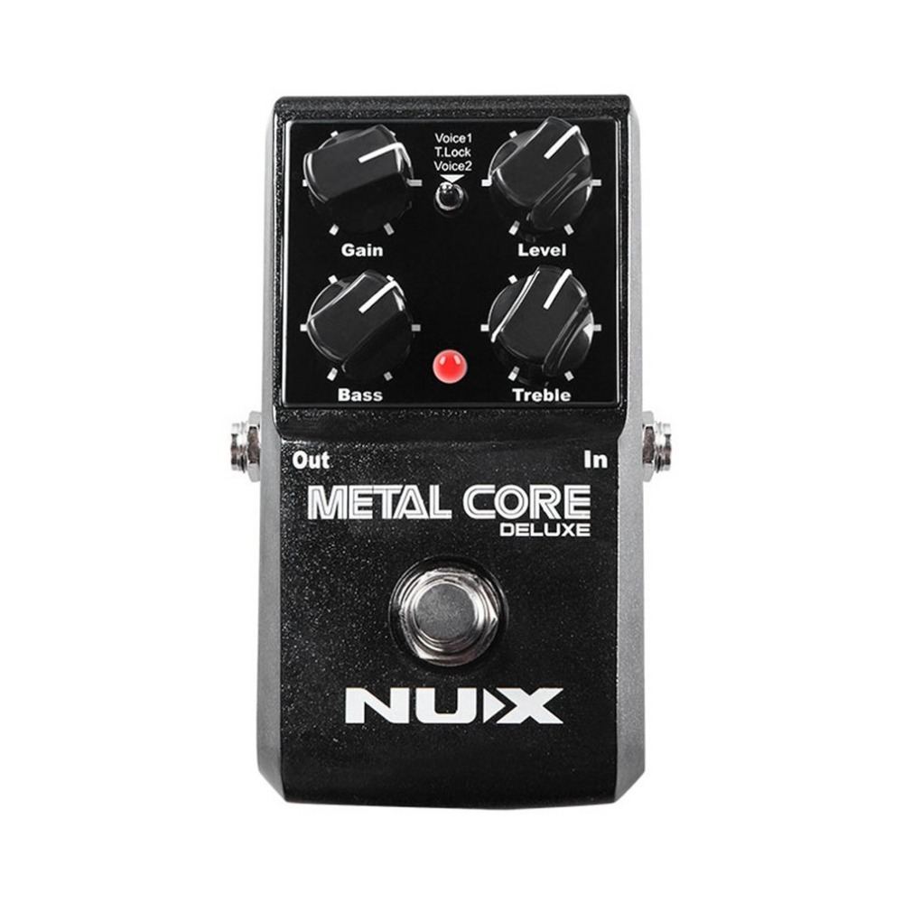 NUX Upgraded Metal Core Deluxe Distortion Guitar Effects Pedal Extreme Heavy Metal Guitarra Pedal Tone Lock Function True Bypass nux metal core distortion effect pedal true bypass guitar effects pedal built in 2 band eq tone lock preset function guitar part