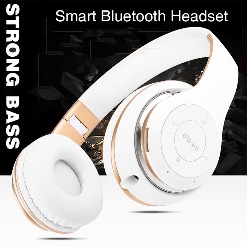 Stereo Bluetooth Headphones with Mic Wireless Headsets for xiaomi redmi 4 pro Prime Mi Max for TV PC Mp3 Player Girls Earphones high quality for xiaomi redmi 4 pro lcd display touch screen digitizer replacement for xiaomi redmi 4 pro prime 5 0phone