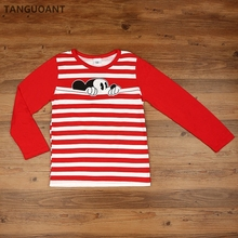 TANGUOANT children t shirts, Hitz cotton long sleeve boys and girls T-shirts, Hot sale pattern, cute round neck pullovers