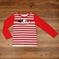 Детские футболки TANGUOANT hitz, хлопковые футболки с длинными рукавами для мальчиков и девочек, Лидер продаж, милые пуловеры с круглым вырезом - фото