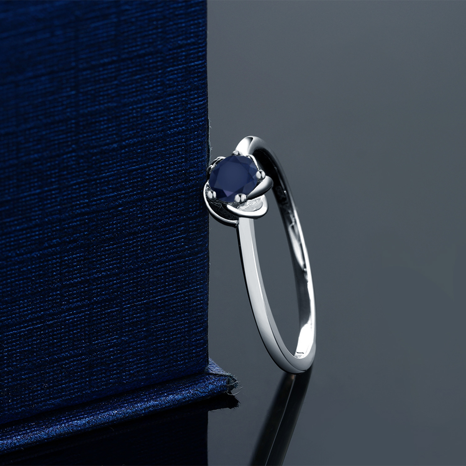 pin cathedral solitaire tapered sapphire blue ctw ring engagement