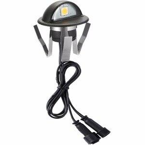 Image 5 - 30 Pcs שחור חצי ירח 35mm LED סיפון רכבת צעד מדרגות גדר מסד אורות נמוך מתח DC12V + 30 W שנאי