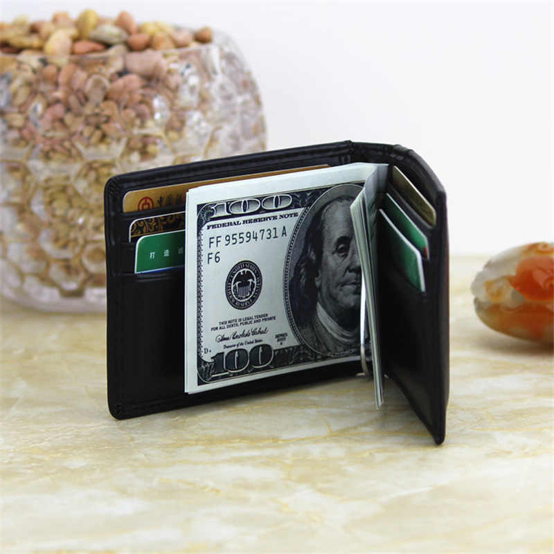 2019 Fashion Women Men Wallet Money Clip Open Clamp for Money Ultrathin Pocket Clamp Credit Card Case Mini Creative Wallet
