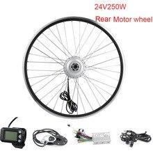Электрический велосипед Скутер мотор Набор для электрических велосипедов 24 в 250 Вт заднее моторное колесо 20 дюймов комплект для электрического велосипеда с дроссельной заслонкой
