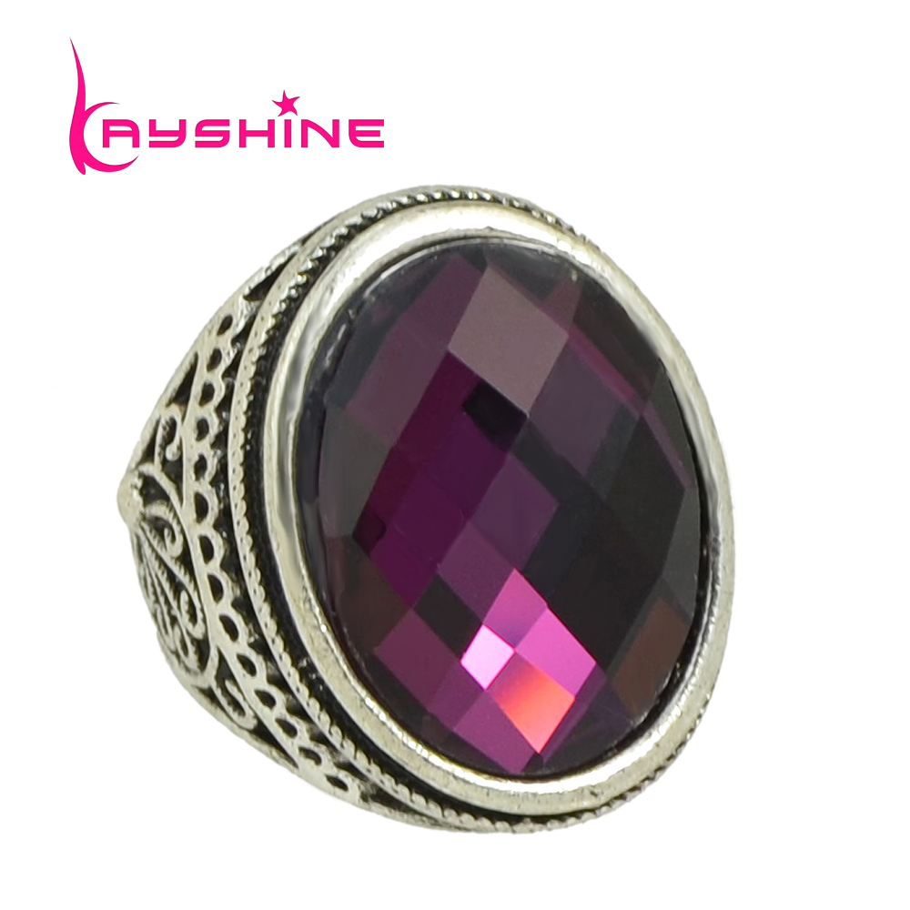Kayshine new fashion vintage style antique silver color Vintage style fashion rings