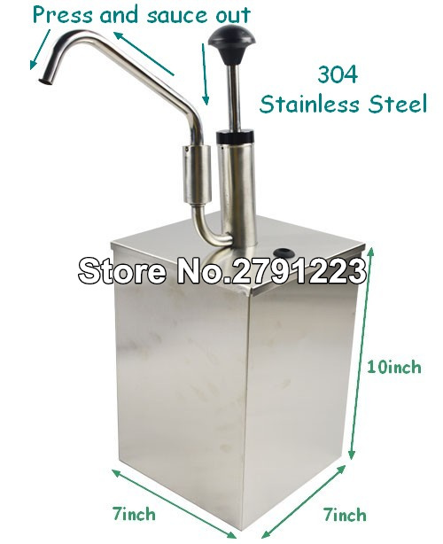 Dispensador de salsas (individual), dispensador de condimentos comercial de una sección, buena herramienta para cocinar, alta calidad
