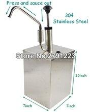 Salsa di Dispenser Pompa (Singolo) Commerciale di sola sezione Condimento Dispenser buon strumento per la cottura di Alta Qualità
