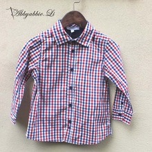 2016 New arrival Spring Autumn Fashion basic daily baby boys shirts plaid cotton easy to match children Soft shirts #161014_h80