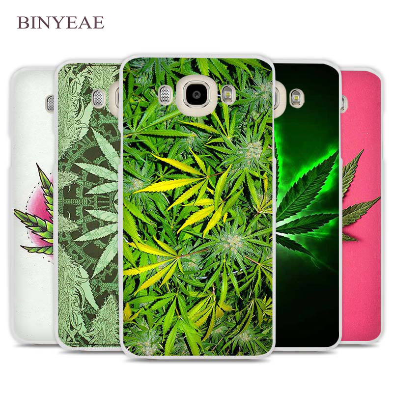 BINYEAE Weed Leaf Cell Phone Case Cover for Samsung Galaxy J1 J2 J3 J5 J7 C5 C7 C9 E5 E7 2016 2017 Prime