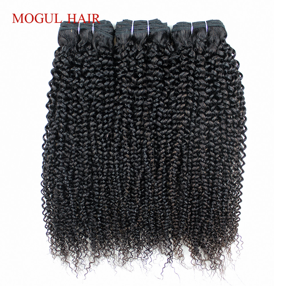 Mogul Hair 2/3 Bundles Afro Kinky Curly Hair Extensions Indian Remy Human Hair Weave Bundles Flat Packed 10-26 inch